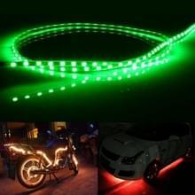Groen licht normaal-op stijl 45 LED 3528 SMD waterdichte flexibele auto Strip licht voor auto decoratie  DC 12V  lengte: 45cm