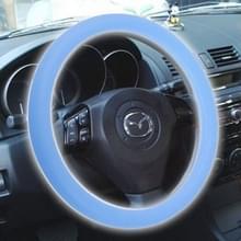 Silicone rubber auto Steering Wheel cover  buiten diameter: 36cm (blauw)