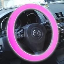 Silicone rubber auto Steering Wheel cover  buiten diameter: 36cm (roze)