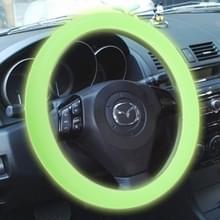 Silicone rubber auto Steering Wheel cover  buiten diameter: 36cm (groen)
