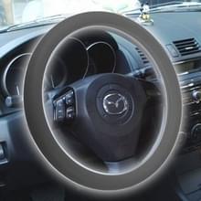 Silicone rubber auto Steering Wheel cover  buiten diameter: 36cm (grijs)