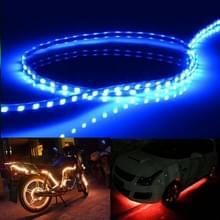 Donker blauw licht Flow stijl 45 LED 3528 SMD waterdichte flexibele auto Strip licht voor auto decoratie  DC 12V  lengte: 45cm