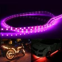 Roze licht Flow stijl 45 LED 3528 SMD waterdichte flexibele auto Strip licht voor auto decoratie  DC 12V  lengte: 45cm