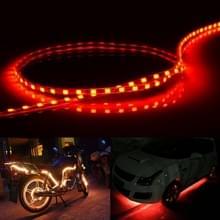 Rood licht Flow stijl 45 LED 3528 SMD waterdichte flexibele auto Strip licht voor auto decoratie  DC 12V  lengte: 45cm