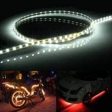 Wit licht Flow stijl 45 LED 3528 SMD waterdichte flexibele auto Strip licht voor auto decoratie  DC 12V  lengte: 45cm