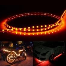 Geel licht Flow stijl 45 LED 3528 SMD waterdichte flexibele auto Strip licht voor auto decoratie  DC 12V  lengte: 45cm
