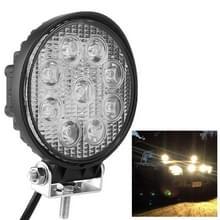 Ronde vorm 27W Bridgelux 2150lm 9 LED wit licht condensator engineering lamp/waterdicht IP67 SUVs licht  DC 10-30V (zwart)