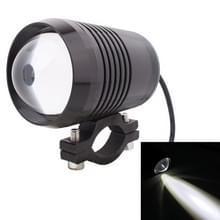 10W 900LM wit licht 6500K 1-LED 3-modus vast motorfiets koplicht  draad lengte: 40 cm  DC 12V-24V(Black)