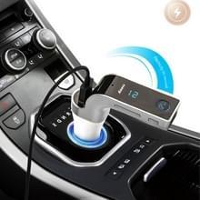 Multifunctionele Bluetooth autolader met auto volledige frequentie FM-zender/stereo MP3-speler voor iPhone 6s & 6s Plus  Galaxy Note 5 & S6 Edge + en de meeste mobiele Bluetooth-apparaten (zilver)