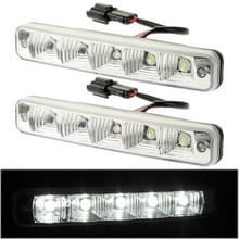 Hoogvermogen auto wit 2 x 5 LED Daytime Running Light