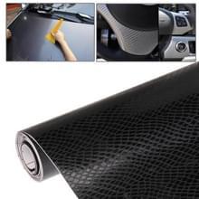 Beschermende decoratie 3D Carbon Fiber PVC autoklever met VL  grootte: 152cm(L) x 50cm(W)(Black)