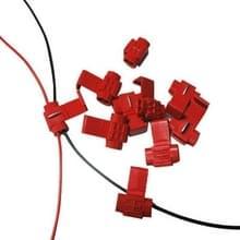 100 stuks kabel Clip  aan te passen aan de Diameter van de lijn: 0.3-0.7mm(Red)