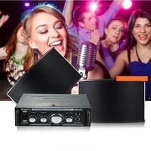 AK698C HiFi Stereo Audio 180W + 180W Power Amplifier  Support 2CH MIC Input  AC 220V / DC 12V(Black)