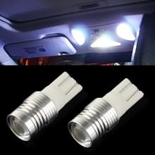 2 stuks T10 3W wit licht LED auto signaal gloeilamp  DC 12V