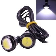 2 PCS 2x 3W 120LM Waterproof Eagle Eye light  White LED Light for Vehicles  Cable Length: 60cm(Black)