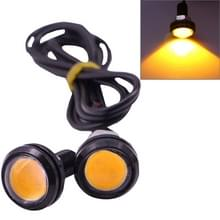 2 PCS 2x 3W 120LM Waterproof Eagle Eye Light Yellow LED Light for Vehicles  Cable Length: 60cm(Black)