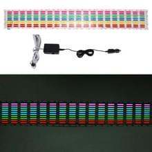 5 kleuren muziek actieve EL auto sticker equalizer met autolader  grootte: 90cm x 10cm