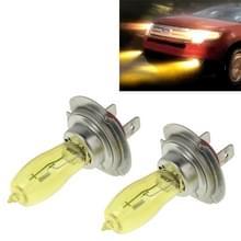 2 X H7 HOD halogeenlampen 12V 100W 2400 LM 3500K geel licht koplampen