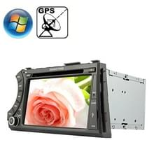 Rungrace 7.0 inch Windows CE 6.0 TFT Screen In-Dash Car DVD Player voor Ssangyong Acyton Kyron met Bluetooth / GPS / RDS