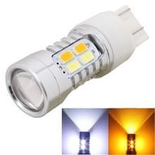 2st T20 10W 700LM geel + witte lichte Dual draden 20-LED SMD 5630 auto-remlicht gloeilamp  constante stroom  DC 12-24V