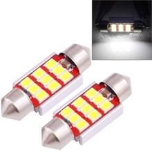 2 stuks 36mm 3.0W 180LM wit licht 9 LED SMD 2835 CANBUS nummerplaat lezing lichten auto lamp