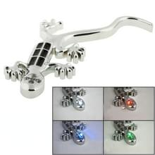 Zonne-aangedreven Gecko stijl autoklever met 4 LED-flitser waarschuwing Lights(Silver)