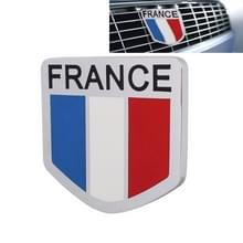 MZ Universal Frankrijk vlag patroon aluminium legering auto front grille