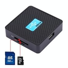 USB 3.0 All-in-1 Card Reader  Super snelheid 5Gbps  ondersteuning van CF / SD / TF / M2 / XD Card(Black)