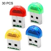 30 PCS Firefly Shape USB 2.0 TF Card Reader  Random Color Delivery(Baby Blue)