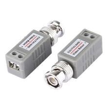 2 stk 202E-HD-CVI/TVI/AHD 1CH passieve Video Balun coax Adapter