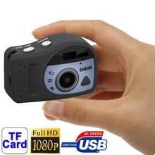 T7000 1080P Mini Digital Camera / Mini DV   3.0 Mega Pixels Support TF Card(Black)