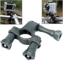 TMC Stuur zadelpen Mount fiets Moto fiets Paalklem voor GoPro HERO4 / 3 + / 3 / 2 / 1(grijs)