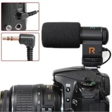 Mic-109 Directional Stereo Microphone with 90 / 120 Degrees Pickup Switching Mode for DSLR & DV Camcorder(Black)