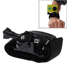 Velcro Arm riem / polsband + Connecter Mount voor Xiaomi Xiaoyi Sport Camera(zwart)