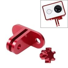 TMC lichtweight CNC Aluminum Headset Mount voor XiaoMi YI Sport Camera(rood)