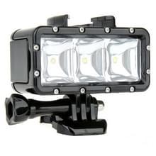 SupTig 30M Waterdicht 300LM Video licht voor GoPro / Dazzne / Yi Camera(zwart)
