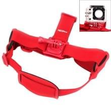 NEOpine GHS-2 verstelbaar actie vaste kop camerariem voor GoPro HERO4 /3+ /3 /2 /1  Xiaomi Yi Sport Camera(rood)
