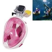 Water sport duiken apparatuur volledig droog duiken masker zwemmen bril voor GoPro HERO4 /3+ /3 /2 /1 L Size(Pink)
