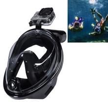 Water sport duiken apparatuur volledig droog duiken masker zwemmen bril voor GoPro HERO4 /3+ /3/2 1 M Size(Black)
