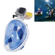 Water sport duiken apparatuur volledig droog duiken masker zwemmen bril voor GoPro HERO4 /3+ /3/2 1 M Size(Blue)