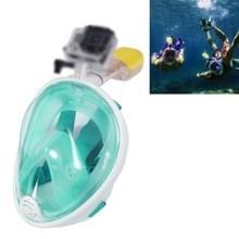 Water sport duiken apparatuur volledig droog duiken masker zwemmen bril voor GoPro HERO4 /3+ /3/2 1 M grootte (lichtgroen)