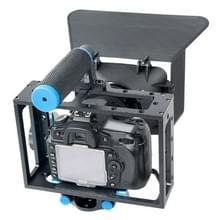 YELANGU YLG1103A-C Camera Kooi Stabilisator + Handgreep + Matte Box Set voor DSLR / Video Camera