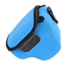 Portable Mini Neopreen Camera Tas Hoes voor Canon SX520 HS  Afmetingen: 10 x 10 x 13 cm (blauw)