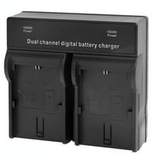 tweekanaals digitale batterij / accu laadr voor canon lp-e6