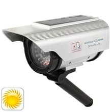 Solar Powered Realistic Looking Dummy Camera with Flashing Red LED Light