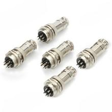 DIY 16 mm 7-pins GX16 luchtvaart Plug Socket Connector (5 Pcs in één pakket  de prijs is voor 5 pc's)