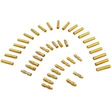 4.0mm Gold Plated Banana / Bullet Connectors with Heat Shrink Tubing (20-Pair)