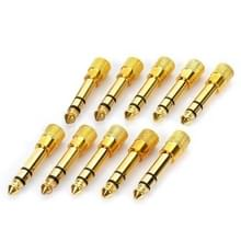 6.35mm Male to 3.5mm Female Audio Jack Adapters (10 Pcs in One Package  the Price is for 10 Pcs)