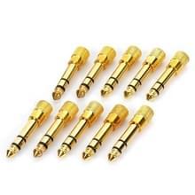 6.35mm Male naar 3.5mm Female Audio Jack Adapters (10 PC's in één pakket  de prijs is voor 10 stuks)