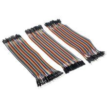 40 PC's Breadboard Male naar Male / Male naar vrouwelijke / vrouw naar vrouw Jumper kabel (120 stuks per verpakking)